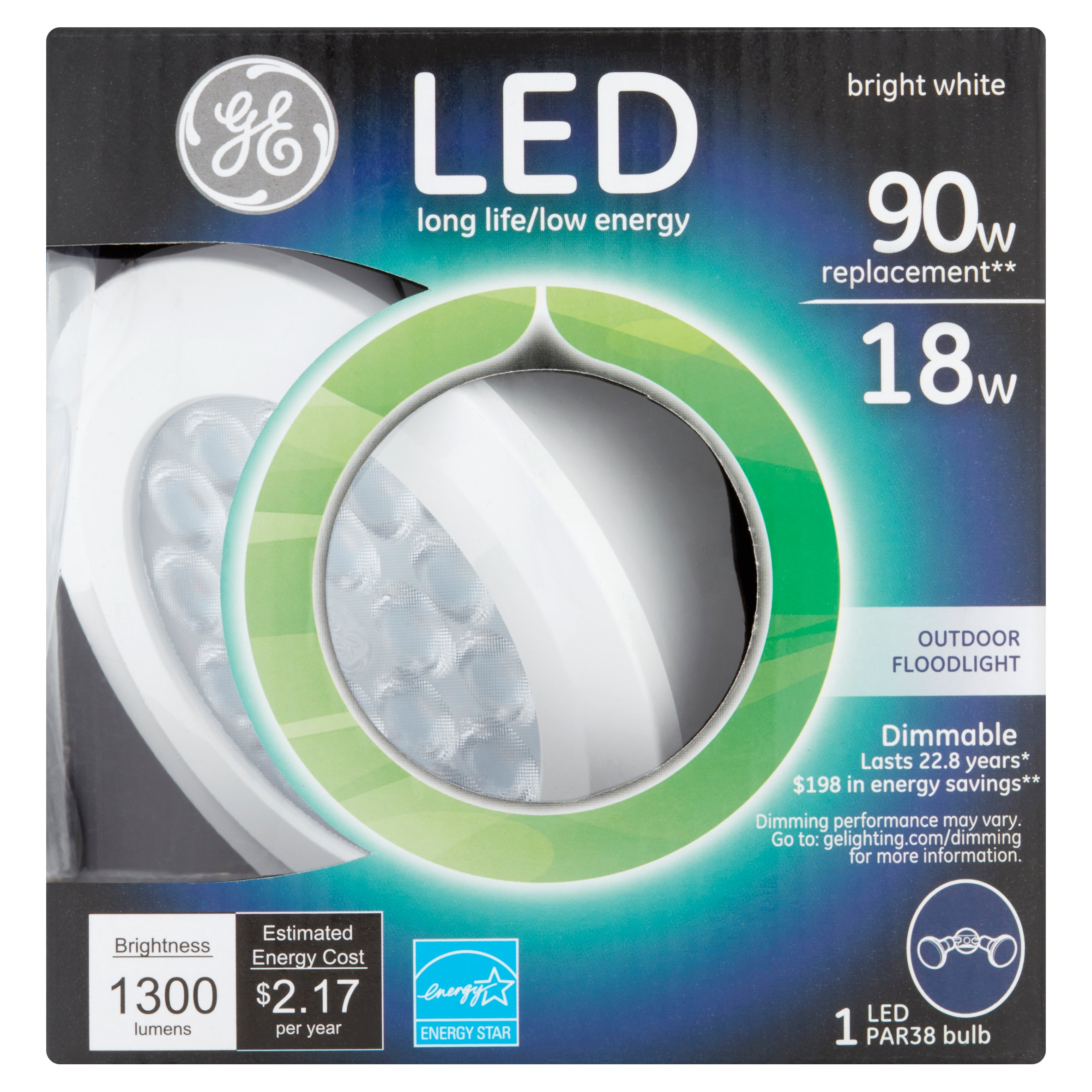 GE LED 18w 1300 Lumens PAR38 Bright White Bulb