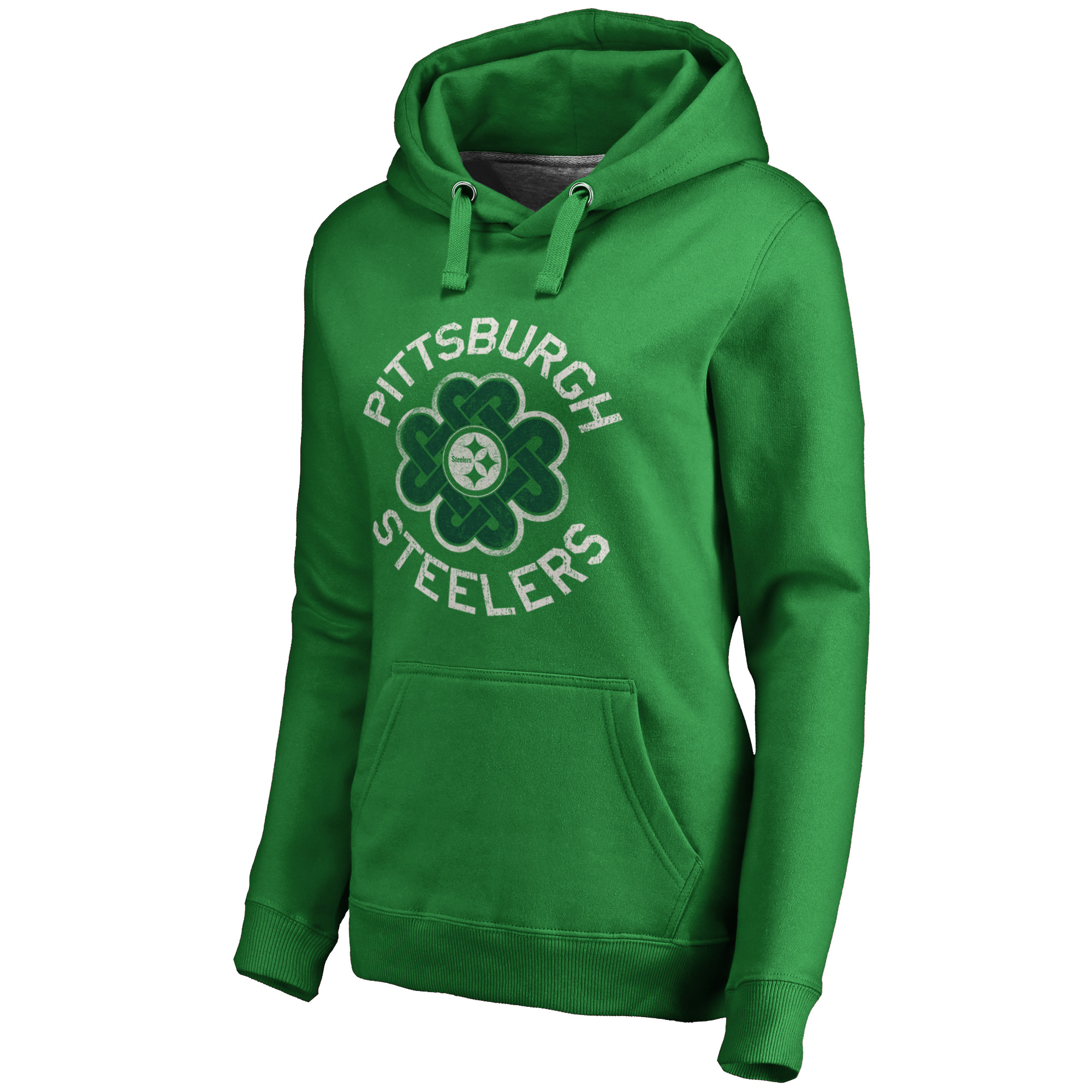 on sale 35a1d e9eef Pittsburgh Steelers NFL Pro Line by Fanatics Branded Women's St. Patrick's  Day Luck Tradition Pullover Hoodie - Kelly