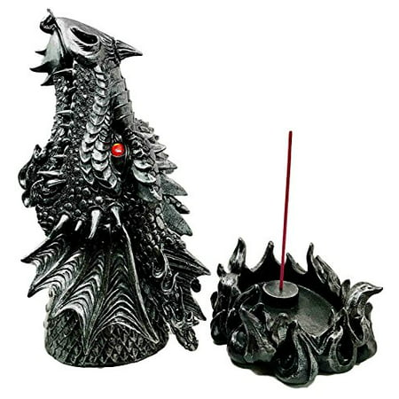 Figurine Incense Burner (Mythical Fantasy Smoke Fire Breathing Dragon Incense Holder & Burner Figurine )