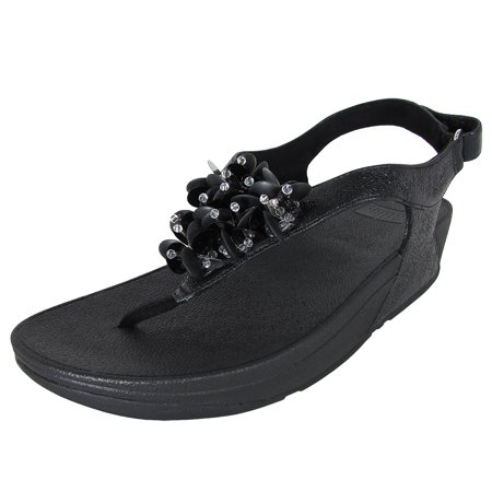 0ac95d53ccd FitFlop - FitFlop Womens Boogaloo Back Strap Beaded Sandal Shoes ...