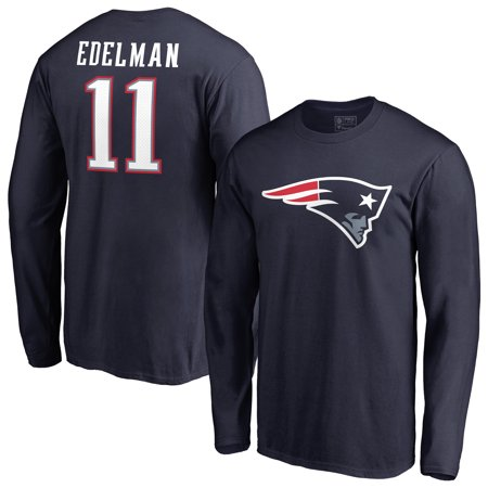 brand new 2b5e7 476a3 Julian Edelman New England Patriots NFL Pro Line by Fanatics Branded Player  Icon Name & Number Long Sleeve T-Shirt - Navy
