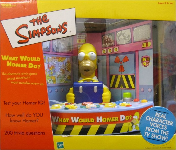 Simpsons What Would Homer Do Electronic Trivia Toy Game by Hasbro