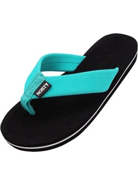 Norty Women's Thong Flip Flop Sandal for Beach, Pool and Everyday - Runs Two Sizes Small
