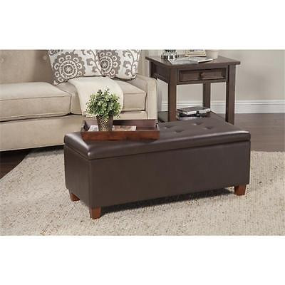 Brand New Kinfine USA K6861-E846 Leatherette Large Storage Bench Brown Home Furniture GSS103197 Istilo116780 by GSS