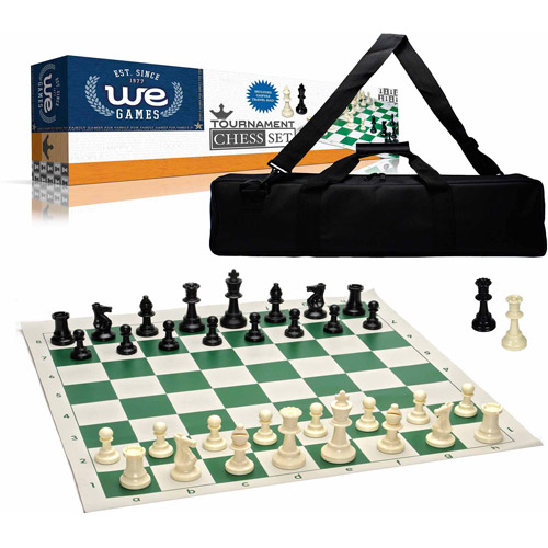 Wood Expressions Deluxe Tournament Chess Set with Black C...