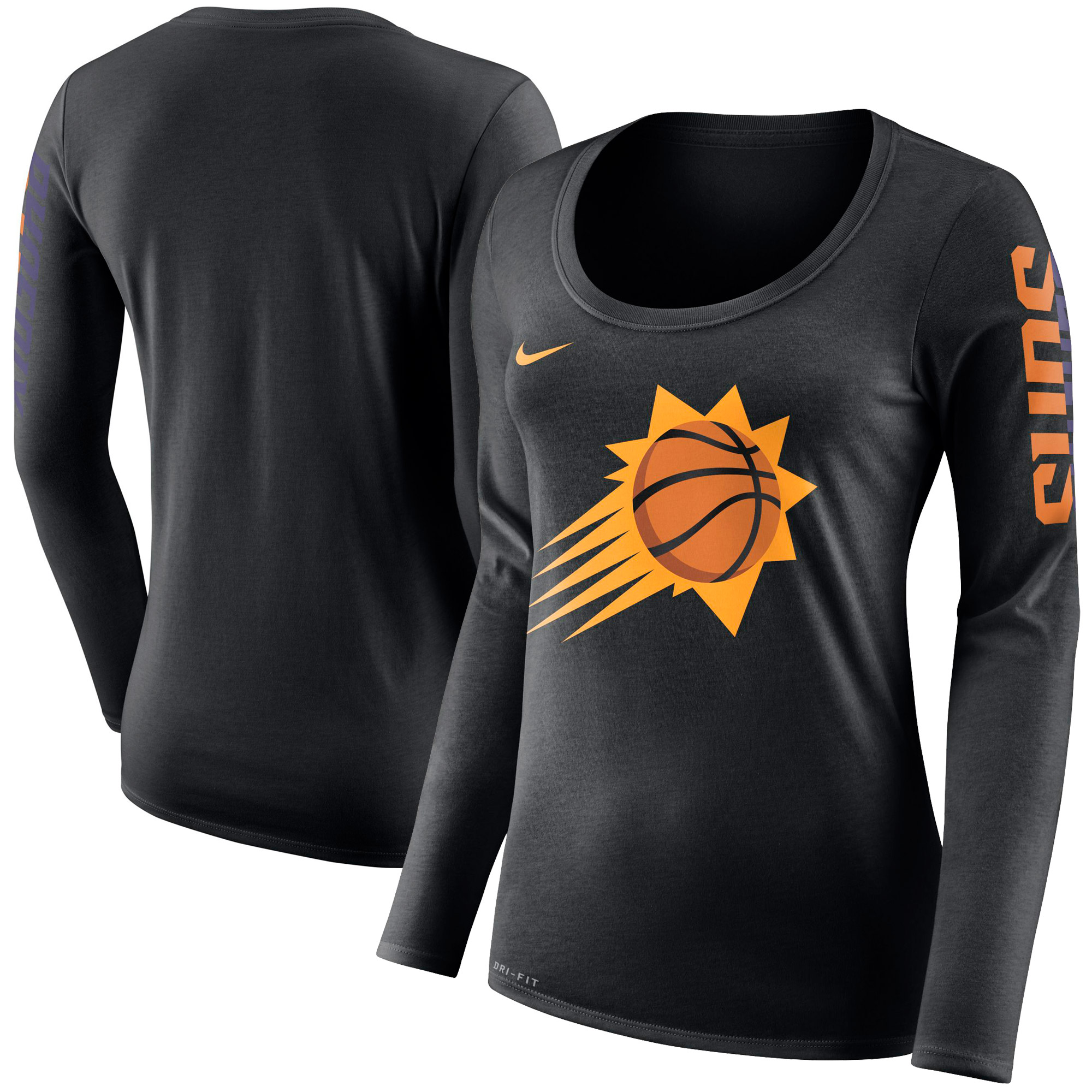 Phoenix Suns Nike Women's Primary Logo Long-Sleeve T-Shirt - Black