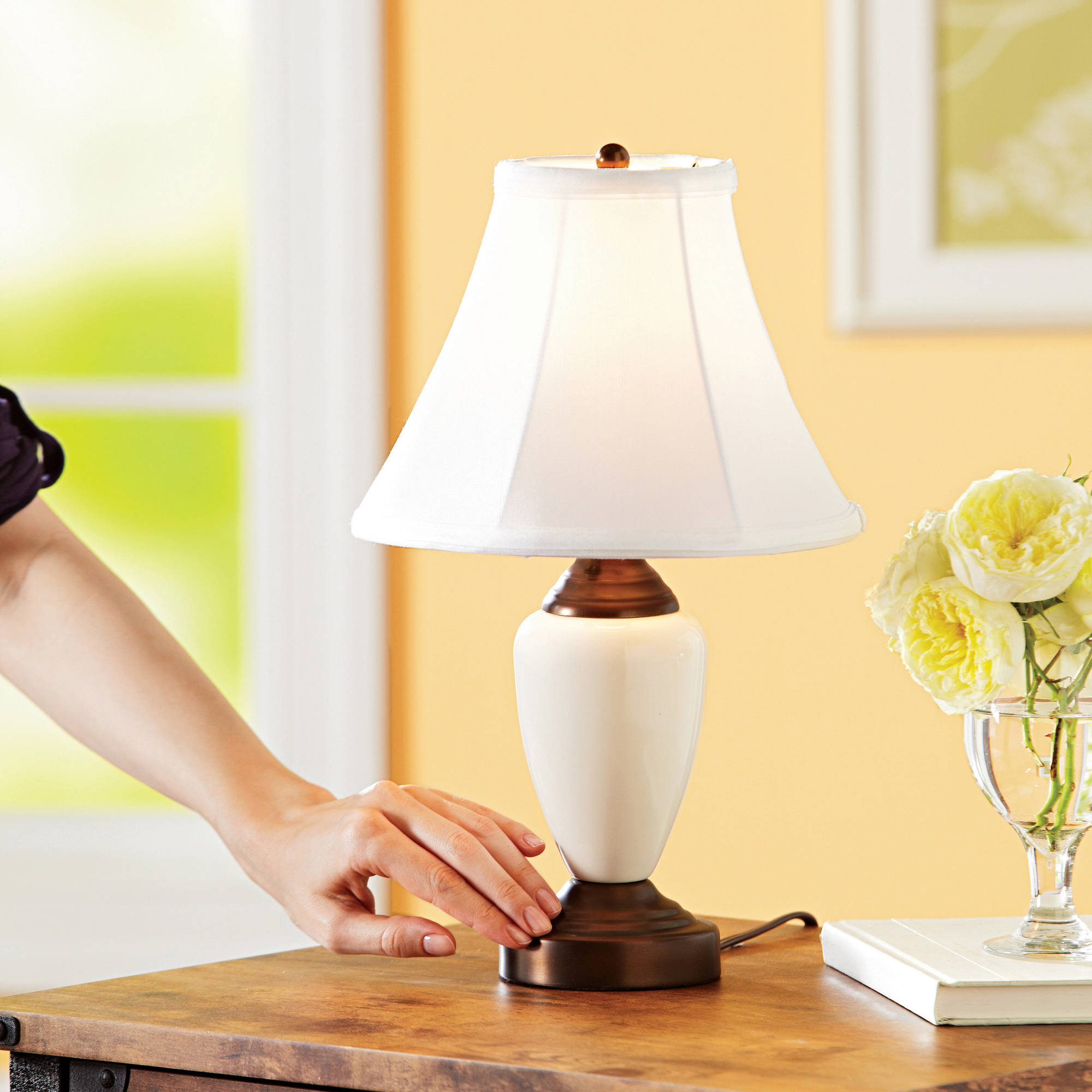 Pair of touch control table lamps walmart mozeypictures Gallery