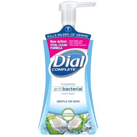 (4 pack) Dial Complete Antibacterial Foaming Hand Wash, Coconut Water, 7.5
