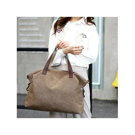 0fc697ff5 Women Fashion Canvas Shoulder Bag Messenger Bags Casual Tote Solid Handbag  Big Capacity - Walmart.com