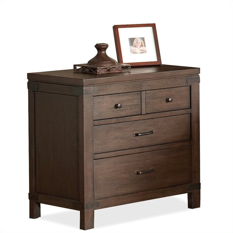 Beaumont Lane 3 Drawer Nightstand in Warm Cocoa