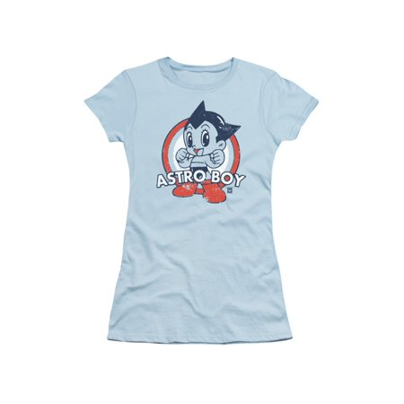 Astro Boy Japanese Anime Cartoon Show Pose On Target Juniors Sheer T-Shirt Tee - Anime Boys And Girls