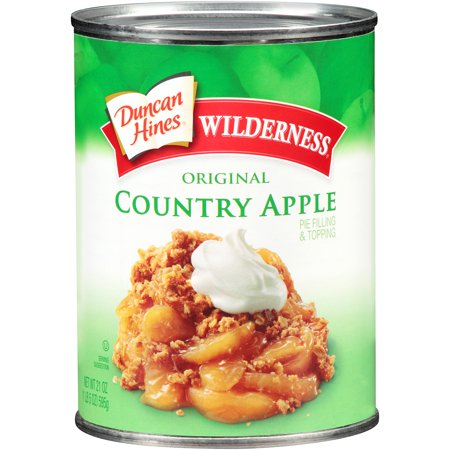 (4 Pack) Wilderness Original Country Apple Pie Filling/Topping, 21 oz