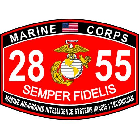 Usmc Air (3.8 Inch Marine Air Ground Intelligence Systems MAGIS Marine Corps MOS 2855 USMC Military Decal )