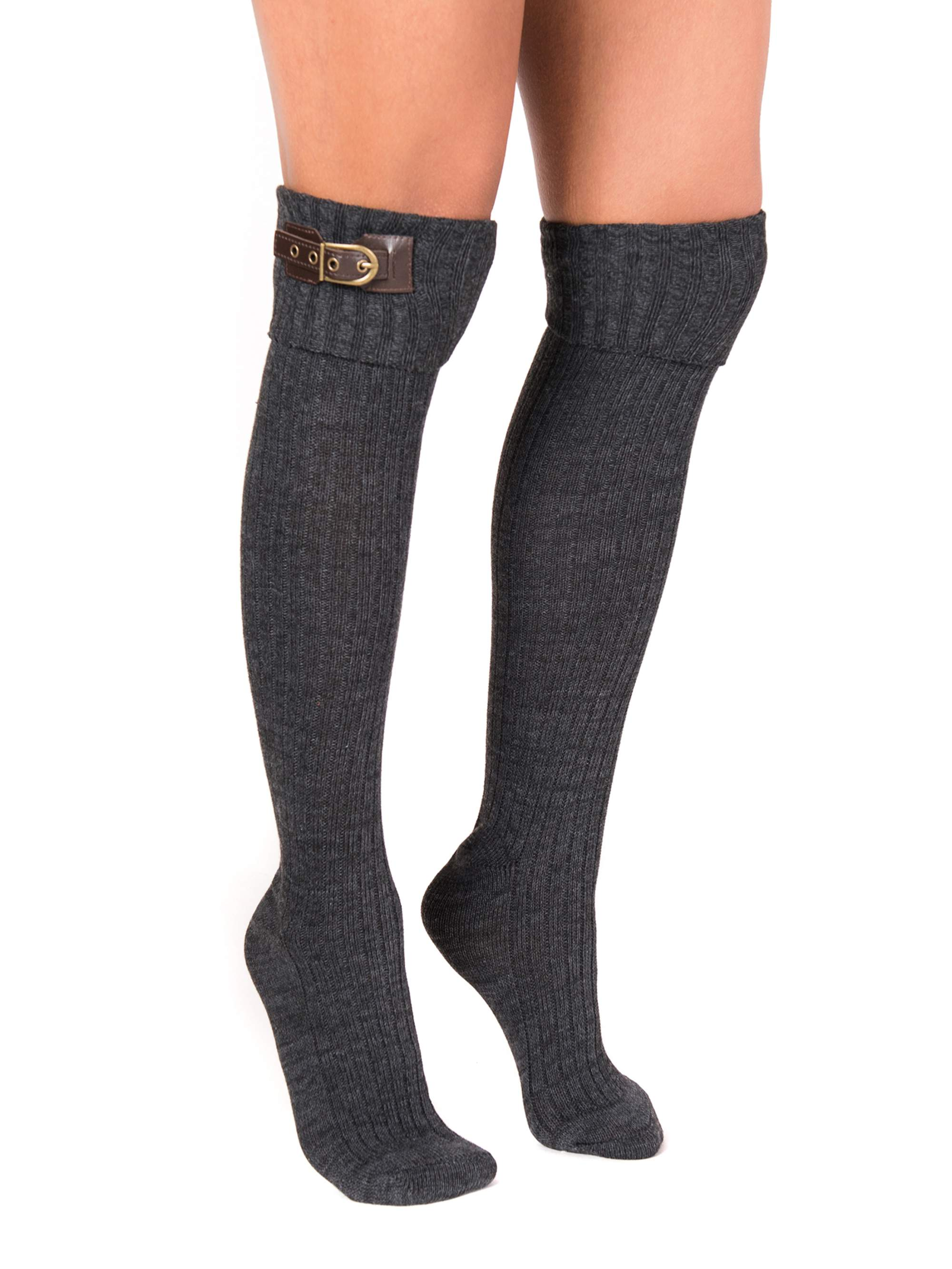 MUK LUKS® Women's 3 Pair Buckle Cuff Over the Knee Socks