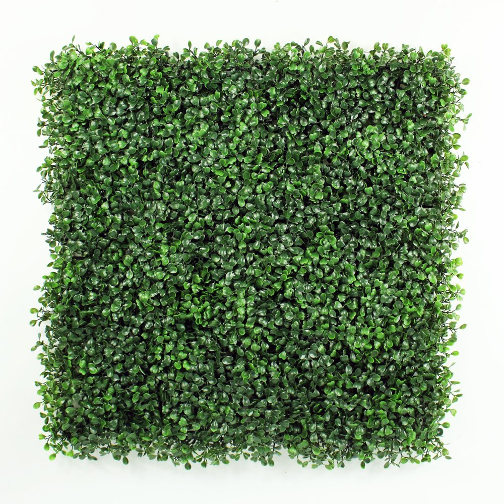 "Artificial Hedge BOXWOOD, covers 33 SQ feet, adds protection, privacy fences, box consist of 12 packs (20"" x 20"") UV PROTECTION, INSTALL DIY. 15 YEARS life span. Huge stock"