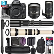 Nikon D610 DSLR + AFS 24-120mm VR + 70-200mm 2.8E VR + Battery Grip - 32GB Kit