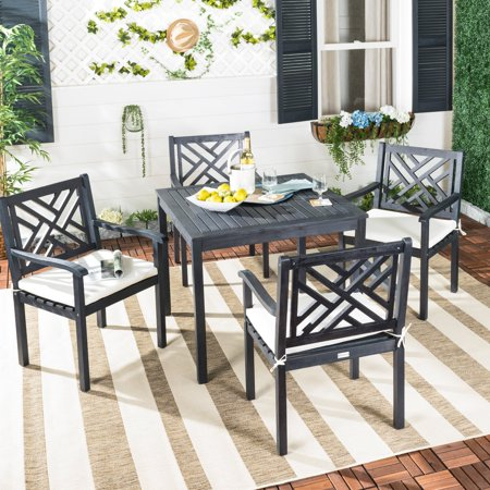 Safavieh Bradbury Outdoor Modern 5 Piece Dining Set with Cushion