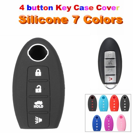 4 Button Silicone Remote Key Fob Keyless Cover Case For Nissan Maxima Altima Gt-r Sentra Murano 7