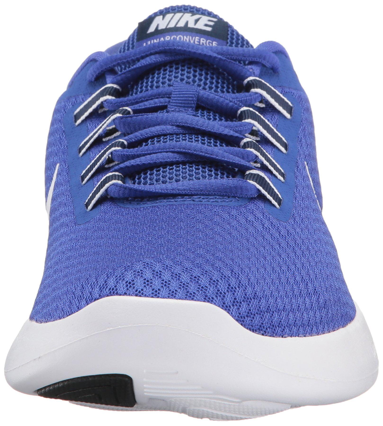 NIKE Men's LunarConverge Running Shoe, Paramount Blue/White/Binary Blue/Black, 12 D(M) US