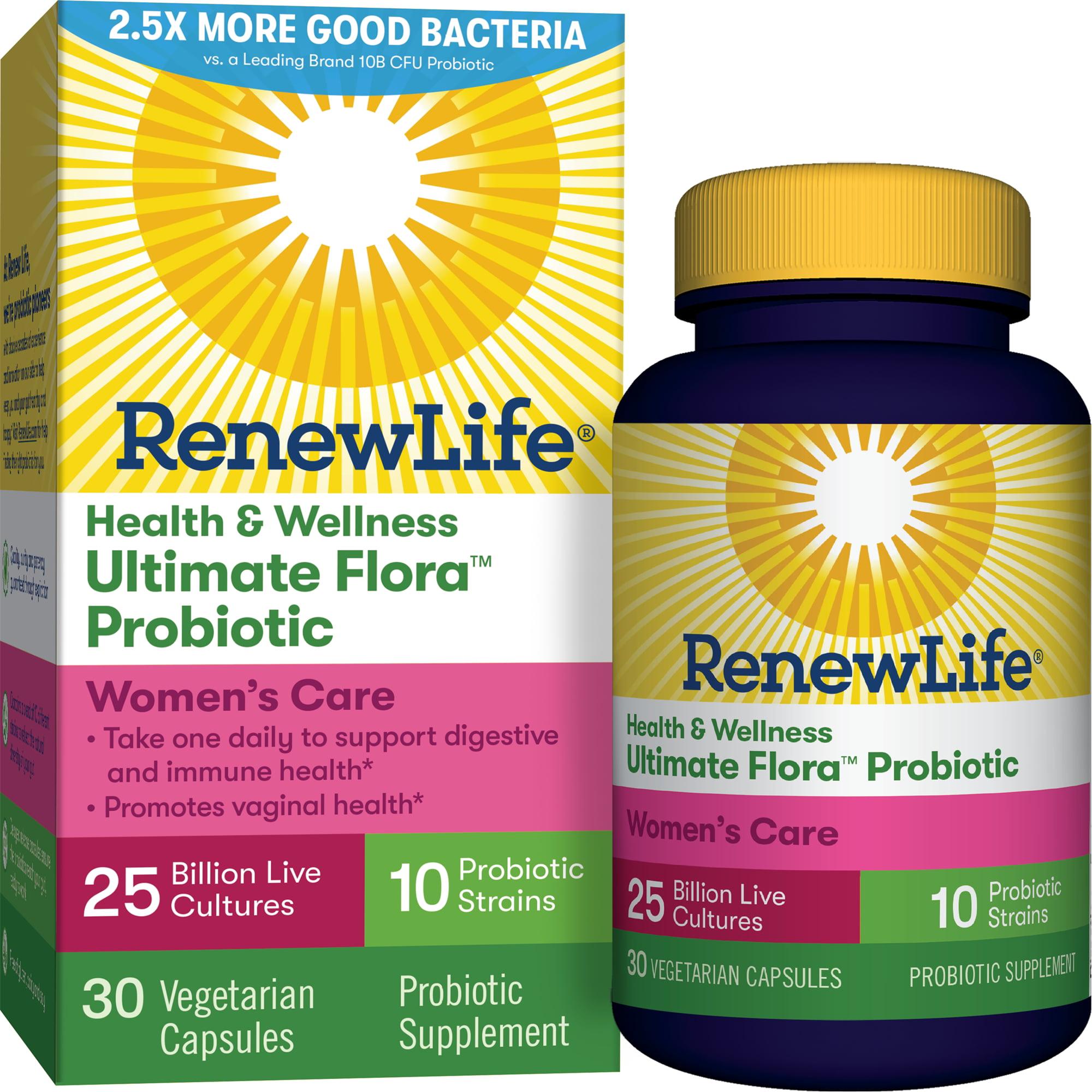 Renew Life - Health & Wellness Ultimate Flora Probiotic Women's Care - 25 billion - 30 vegetable capsules