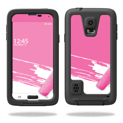 MightySkins Protective Vinyl Skin Decal for LifeProof fre Samsung Galaxy S5 Case wrap cover sticker skins Pink Paint Roller