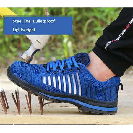 Men's Work Shoes Safety Sneaker Steel Toe Shoes