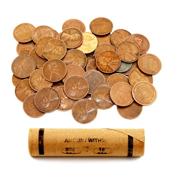 Aiiz Collectibles Lincoln Wheat Penny Roll 50 Coins By Aiiz