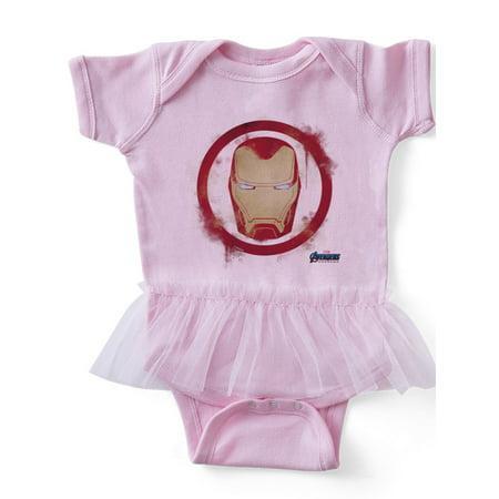 CafePress - Iron Man Head - Cute Infant Baby Tutu Bodysuit - Iron Man Baby