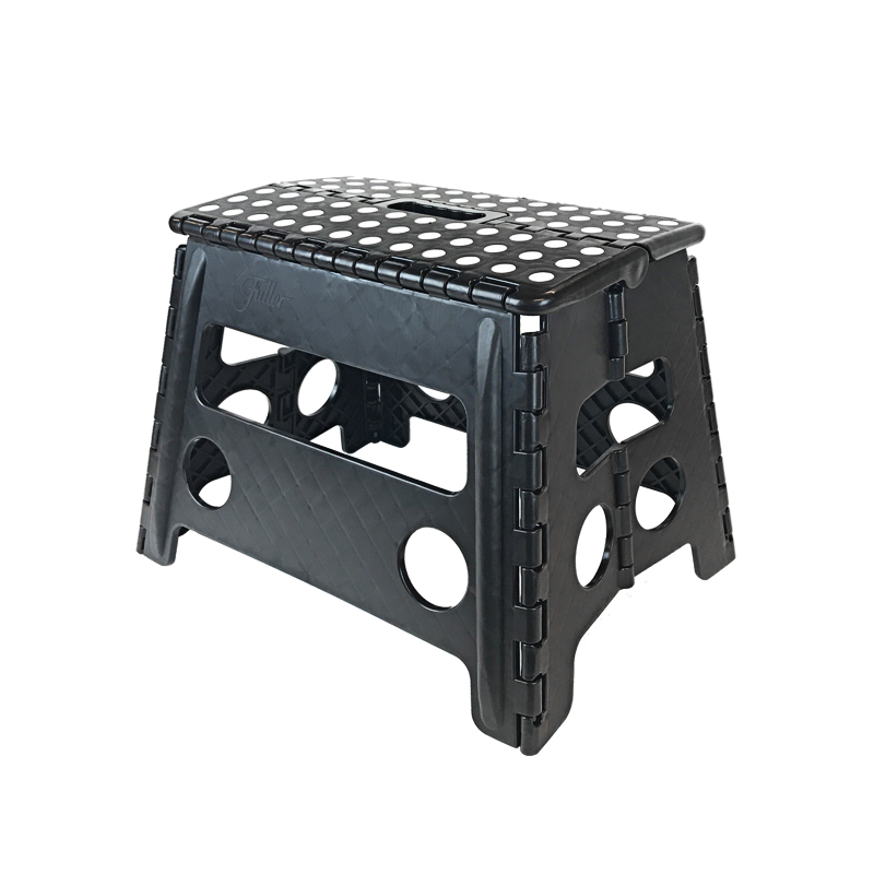 Core Pacific 12 Step Stool Black With White Dots Walmartcom