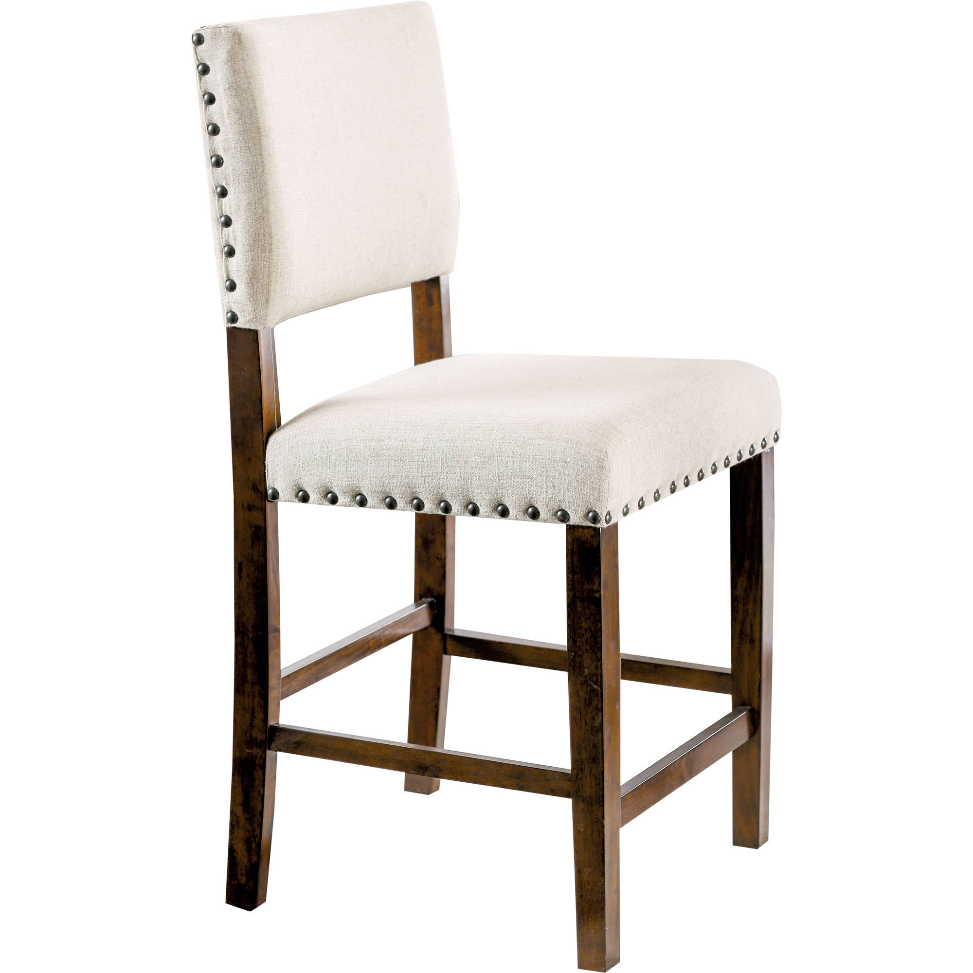 Furniture Of America Elspeth Industrial Counter Height Dining Chair (Set Of  2), Brown