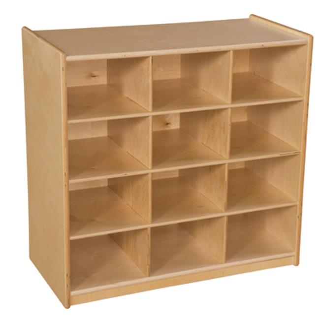 Wood Designs WD16129 12 Cubby Storage without Trays