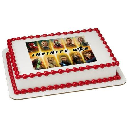 Avengers Infinity War 1/4 Sheet Image Cake Topper Edible Birthday Party - Avengers Birthday Cake Toppers