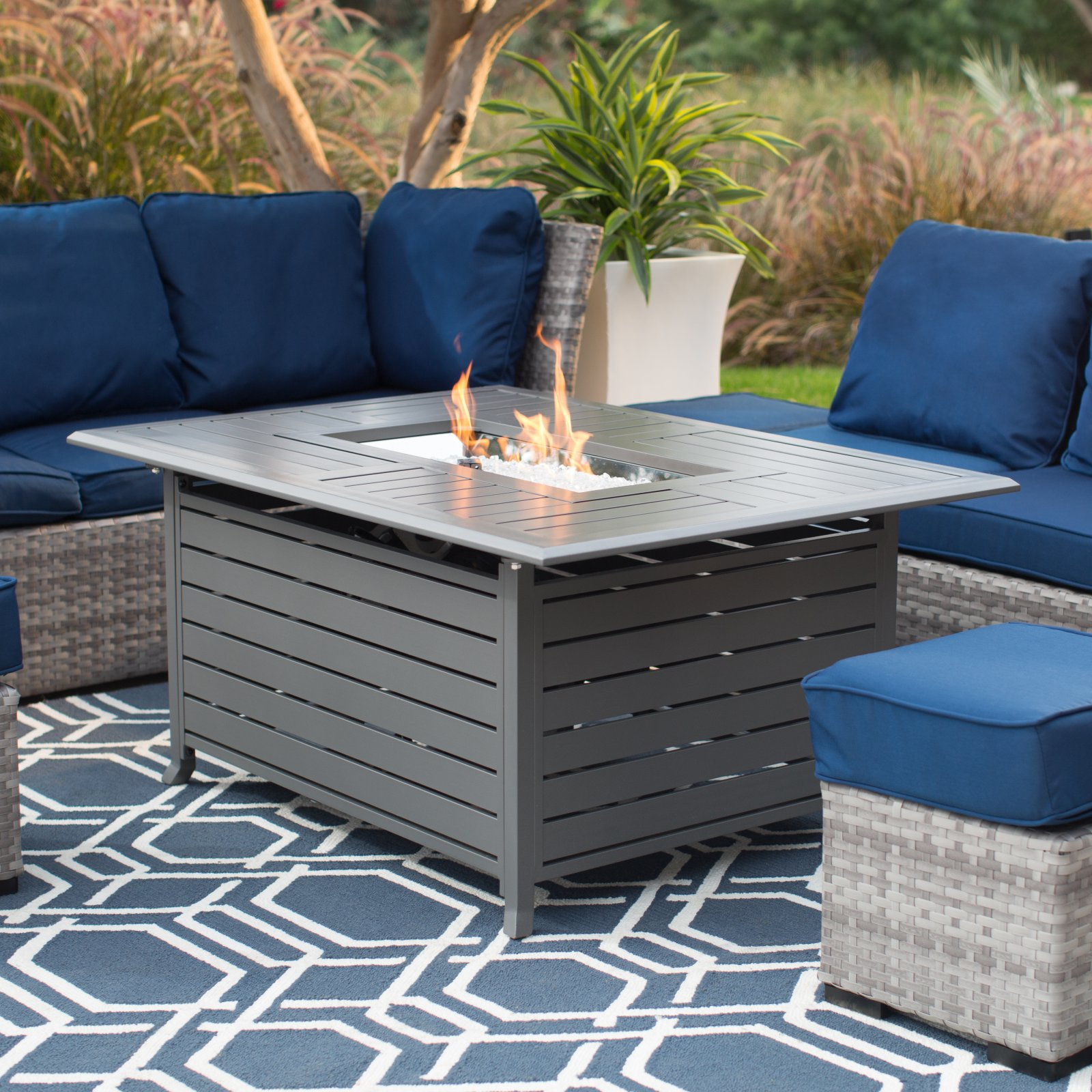Red Ember Longmont 50 in. Fire Table - Charcoal