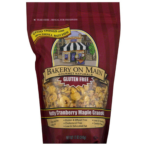 Bakery on Main Gourmet Naturals Gluten Free Nutty Cranberry Maple Granola, 12 oz, (Pack of 6)