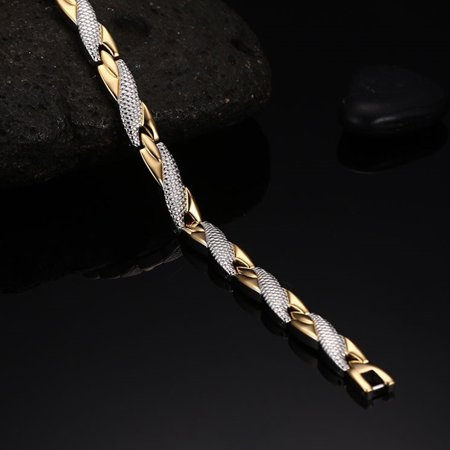 Creative Fashion Snake Print Decoration Bracelets Simple Leisure Stainless Steel Hand Chain - image 3 de 8