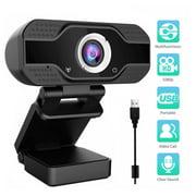 PC Webcam, EEEkit 1080P Full HD Webcam USB Desktop & Laptop Webcam Live Streaming Webcam with Microphone Widescreen HD Video Webcam for Video Calling (HD Webcam)