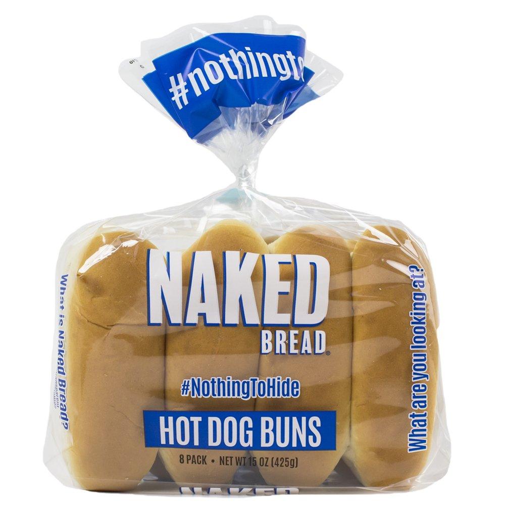 Naked Bread Hot Dog Buns 8 ct. - Walmart.com - Walmart.com