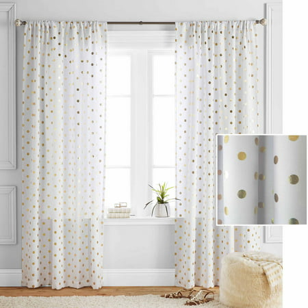 Better homes and gardens polka dots curtain panel Better homes and gardens curtains