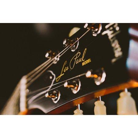 Canvas Print Guitar Strings Acoustic Guitar Guitar Les Paul Stretched Canvas 32 x 24