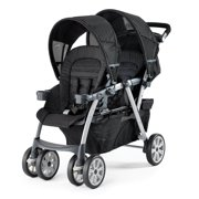 chicco cortina together travel system car seat compatible double stroller, ombra