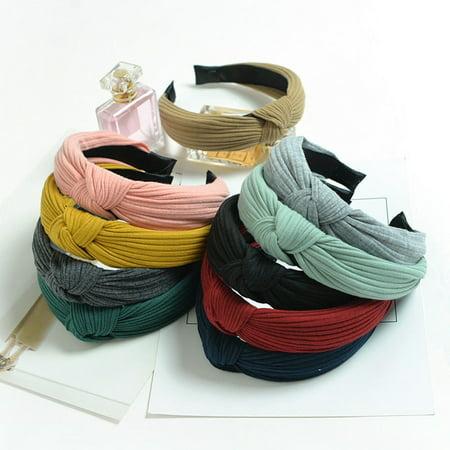 New Womens Headband Twist Hairband Bow Knot Cross Headwrap Hair Band -