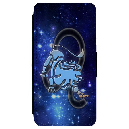 Leo Horoscope Astrological Zodiac Sign Samsung Galaxy S8 Leather Flip Phone Case