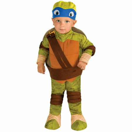 Teenage Mutant Ninja Turtle Leonardo Toddler Halloween Costume, Size 3T-4T - Baby Ninja Turtle Halloween Costume