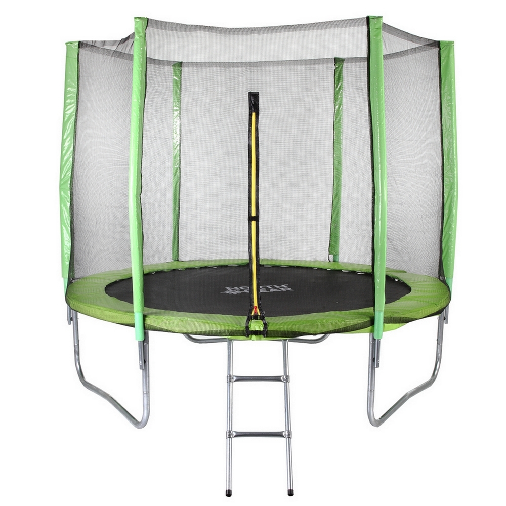 North Gear 8 Foot Trampoline Set with Safety Enclosure an...