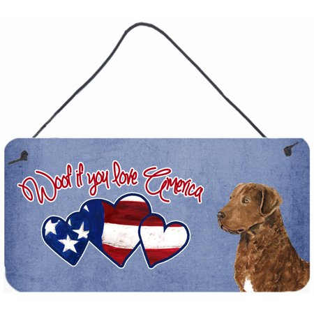 Woof if you love America Chesapeake Bay Retriever Wall or Door Hanging Prints