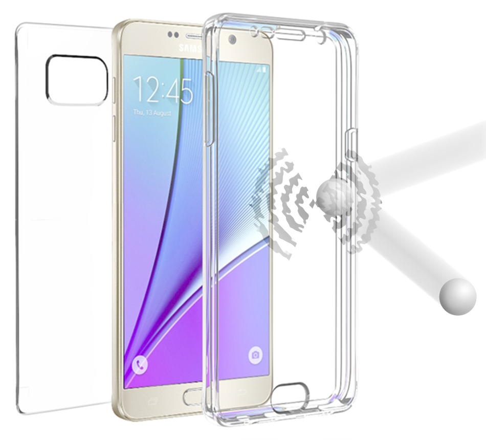 GALAXY NOTE 5 CASE, NEW BEYOND CELL TRI-MAX TRANSPARENT CLEAR CASE SCREEN GUARD PROTECTOR TPU SLIM COVER FOR SAMSUNG GALAXY NOTE 5 PHONE (SM-N920, N920V, N920A, N920R4, N920T, N920I, N920A)