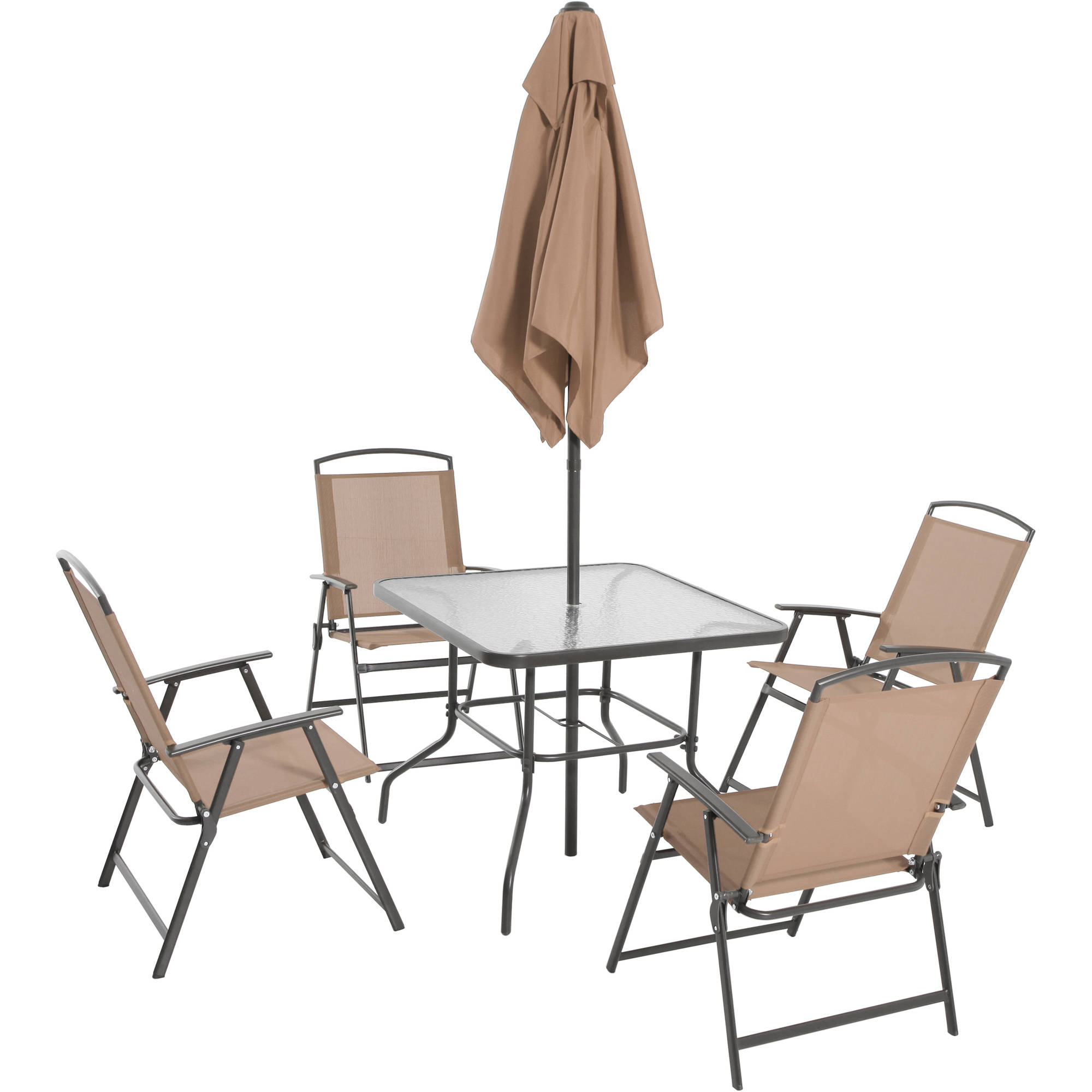 Mainstays Albany Lane 6 Piece Folding Dining Set, Multiple Colors    Walmart.com