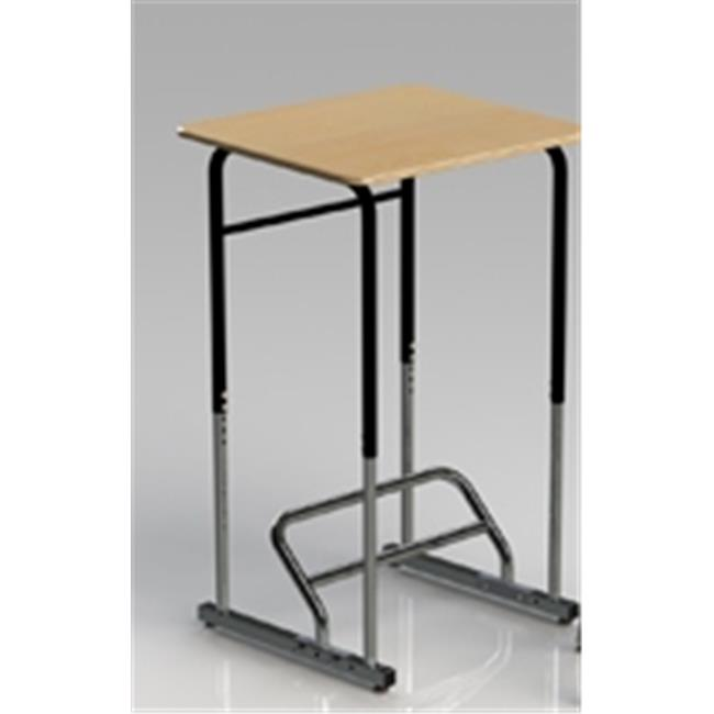 Stand2Learn S2LK04.B.M.X.K Ergonomical Stand-Biased Student Desk For Kinder-4Th Grade Maple