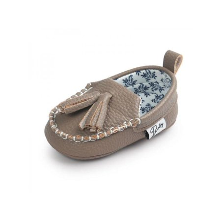 Nicesee Baby Pu Leather Tassel Non-slip Shoes
