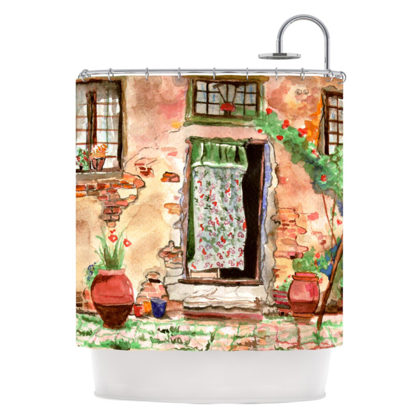 "Kess Inhouse Theresa Giolzetti ""Tuscan Door"" Shower Curtain"